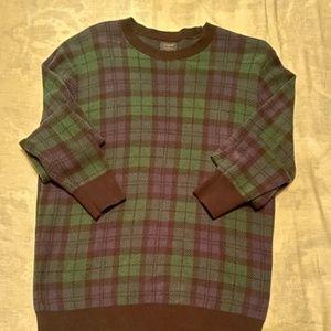 J CREW Black watch Tartan Sweater Med MINT!